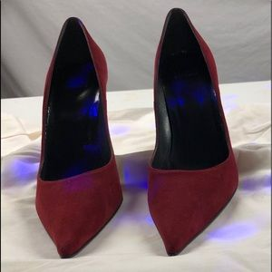 Maroon suede high heels in good condition